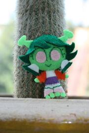 Chibi Mars with Cactus by fyre flye