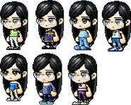 AJ's Many Outfits