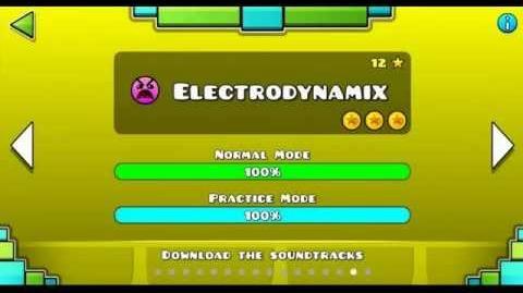 """Geometry Dash"" level 15 - Electrodynamix (100%)"
