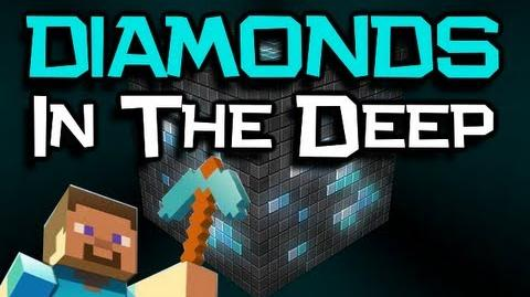 """♪ """"Diamonds In The Deep"""" Song - A Minecraft PARODY Of Adele 'Rolling In The Deep' (Minecraft Song)"""