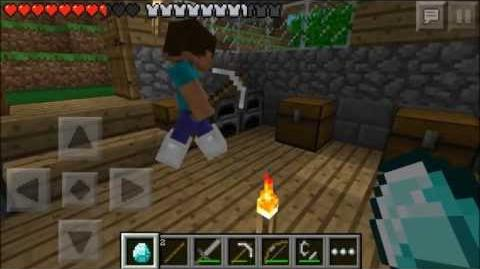 Minecraft Pocket Edition Multiplayer Lets Play! ~ Episode 2 ~ Crashes And Diamonds! W VGamerTV!