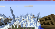 Towers of packed ice forest