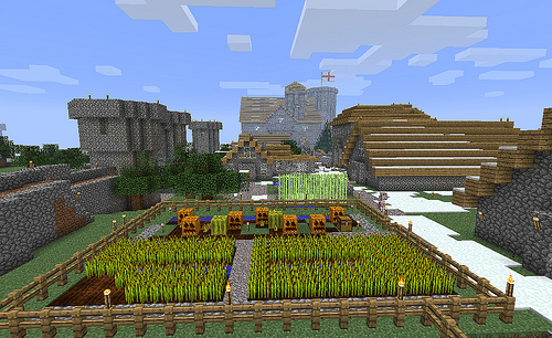 File:The Village in Minecraft.jpg