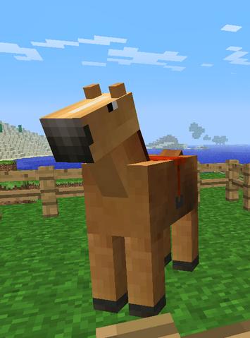 File:My minecraft horse by schlonie-d3cf380.png