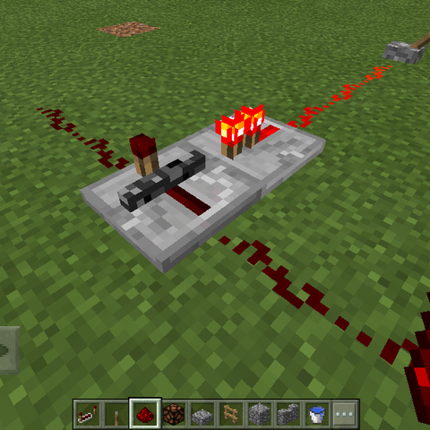 An unpowered Locked Redstone Repeater.