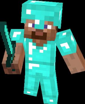 File:Minecraft Steve Diamond Armor.png