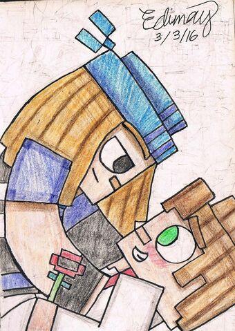 File:Jessexpetra minecraft storymode by edimay-d9tuzd1.jpg