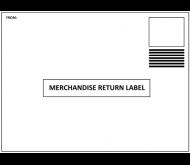 Merchandise return label