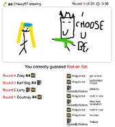 Draw It Riot On Set