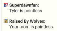 Your mom is pointless