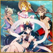 Onimaru Kunitsuna Defiant Princess Oto Ocean Flower Kintaro Vacation Daji Seductive Swimsuit Square
