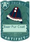 Bear fur coat blue