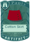 Cotton Skirt Red