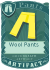 Wool pants yellow