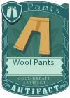 Wool pants mint