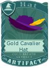 Gold Cavalier Hat Purple