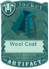 Wool coat collar blue