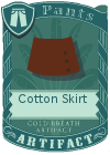 Cotton Skirt Brown