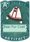 Bear fur coat