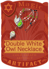 Double White Owl Necklace