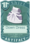 Down Dress Grey