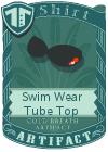Swim Wear Tube Top Black