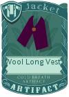 Wool Long Vest 1 Purple