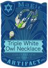 Triple White Owl Necklace