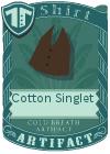 Cotton Singlet Brown