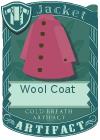 Wool coat purple