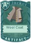 Wool coat collar grey