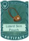Lizard Skin Pouch Brown