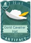 Gold Cavalier Hat