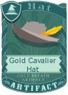 Gold Cavalier Hat Grey