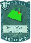 Swim Wear Tank Top Green