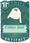 Cotton shirt bow purple