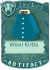 Wool kirtle blue
