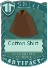 Cotton shirt collared brown