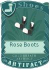 Rose Boots Black