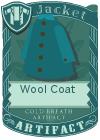 Wool coat blue