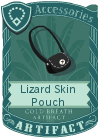Lizard Skin Pouch Black