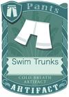 Swim Trunks White