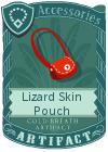 Lizard Skin Pouch Red