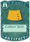Cotton Skirt Yellow