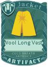 Wool Long Vest 4 Yellow