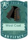 Wool coat collar black