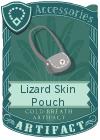 Lizard Skin Pouch Grey