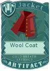 Wool coat collar red
