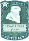 Down Dress Coat Blue