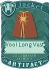 Wool Long Vest 4 Red